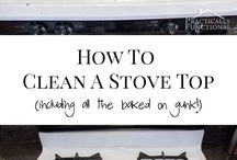 cleaning the stove