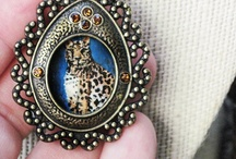 Open Window Locket Hand Painted With Leopard / by Painted Fancy