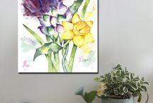 Purple / Canvas Art Prints, A1 and A2.  www.splashyartystory.com