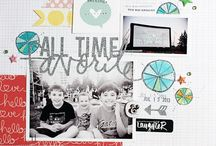 Paper Scrap Inspiration / Paper layouts and projects from around the web