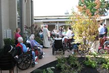 Skilled Nursing Gardens / Gardens for older adults should include activities and programs that engage elders to participate in the outdoor environment