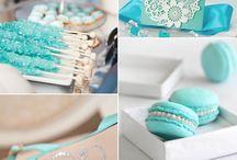 Blue Tiffany wedding