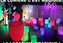 LOCATION MOBILIER LUMINEUX LED