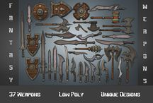 Fantasy Weapons - 3D Low Poly