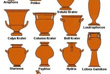 Original Inspirations / References for drawings, mainly greek pottery paining that informs my comix