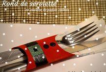 Noel : déco table / Décoration pour table de Noël