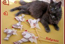 Gatti che passione! / I miei lavori ispirati alle splendide creature feline. By Natycrea