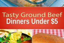 Ground Beef  Under $5.00