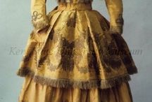 mid-19th Century Walking Dress