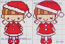 Desenhos de Natal em Ponto Cruz