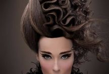 White and black photo shoot / Hair makeup model clothing