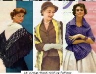 Vintage Knitting Patterns / Knitting patterns - Vintage knitting patterns and old knitting patterns. Old and discontinued knitting patterns from the past and ideas to make them new again!