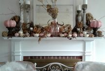 ~Pale Autumn Home~ / Neutral Autumn styling in our house in the woods..A mix of French, Bohemian, Shabby Chic, and rustic natural elements..