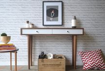 Our work - Desks and Console tables / Solid wood pieces inspired by the straight lines and warmth of mid century modern furniture. We make handcrafted pieces influenced by Danish Modern style, but also heavily inspired by the vintage, minimalist aesthetic of downtown New York and Brooklyn. Made with love in NYC.