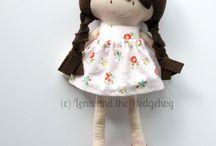 Bonequinhas de pano / Lindas bonequinhas  de tecido reciclados ou não