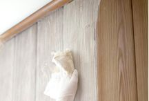 office knotty pine makeover