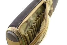 Rifle stock ammo holder