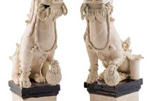 японские и китайские львы
