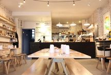 Bistro/Cafe interiors & decor / Ideas for simple, friendly cafe/Bistro/Trattoria decor.