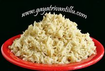 Rice, Roti & Cereal Items - Gayatri Vantillu / Here you would find Rice, Pulaos, Biryani's, Pulihora etc.