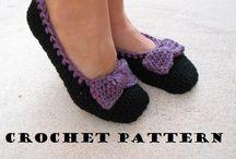 Crochet slippers & scarves