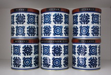 Retro and vintage tin jars