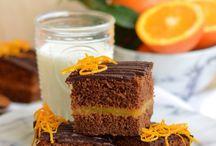 torta cremosa all'arancia e cioccolato