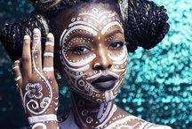 african inspired body art