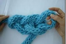 Arm & finger knitting