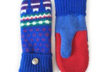Nordic Mittens / Minnesota Made Nordic Mittens made from upcycled Scandinavian Wool Sweaters