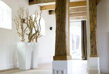 Eiken houten pilaren