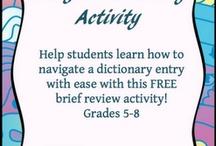 dictionary skills / by Priscilla Shiogi
