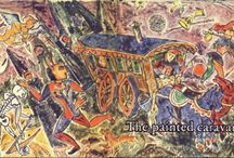 The Painted Caravan / [Not sure why pics are coming in upside-down & sideways--trying to correct] These are pictures from the book Sylvia Plath learned tarot from, The Painted Caravan: a penetration into the secrets of the tarot, by Basil Ivan Rakoczi.