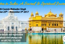 Yoga and Meditation Retreat - INDIA 2017 / Join Cosmin Mahadev Singh for a 12 day transformational spiritual journey into the Magical Land of India.  Take the trip of a lifetime at the birthplace of yoga and the spiritual home of the world's most famous meditation traditions.  Details and Registration: http://www.rykyoga.com/yoga-retreat-india/