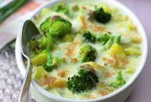 Broccolie aardappel gratin