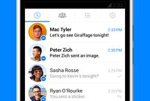 Chat and Instant Messaging Applications / Pictures from different well-known and fresh message apps. Chat, IM and texting.