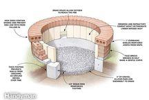 Brick fire pits
