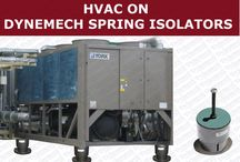 Vibration Isolation in HVAC applications / Dynemech is the leading manufacturer/exporter of Anti-Vibration Machine Mounts for all kinds of HVAC applications like air handling equipments, compressors, chillers,cooling towers, generators, pumps, heaters etc.