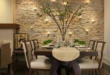 paredes en piedra comedor y sala