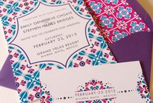 Wedding Stationery / Wedding Stationary for every bride and groom, tradional, modern, sparkly and plain, elegant and fun, creative and laser cut, painted and printed, gold, silver, copper, pastels, flowers, geometric,...