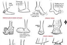 Zeichnen Füße