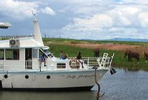 Kariba Houseboats / Zimbabwe has many natural and splendid beauties, but little in the world can compare with the superb wildlife to be seen on the shores of Lake Kariba and the calm serenity mixed with the excitement of outstanding Tiger fishing, an activity which Lake Kariba is so well known for!  Pontoon Houseboats, Cabin Cruisers and Yatchs are available for cruises along the shorelines of Kariba