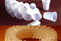 Reciclagem com descartáveis