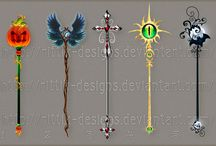 Item Designs: Staffs, keys, random