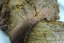 Herb rubbed sirloin roast