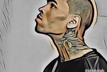 Pop Art Chris Brown