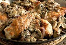 Poulet, champignon et dijon