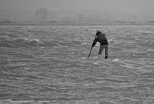 SUP Downwinder - Winds 60mph + (50knots +)  / England's South Coast Wednesday 12th Feb 2014. Photos by Mandy West, Sandy Point, Hayling Island.