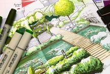 landscapes architecture Drawings