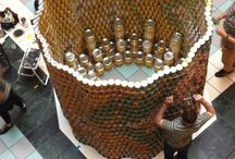 CANSTRUCTION - 2013 / 8th Annual Canstruction® Event was October 5-7 at the Mall of America, Sears Court Canstruction®, a national charity committed to ending hunger. Taking place in 50 cities throughout North America each year, Canstruction® events are unique design/build competitions showcasing colossal sculptures built from thousands of ordinary cans of food. Highlighting the creativity and compassion of top architectural and engineering firms. Each $5 we raise allows Second Harvest Heartland to deliver 18 meal / by AIA Minnesota